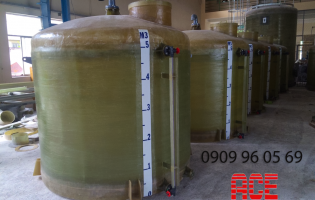 Chemical tank for wastewater treatment