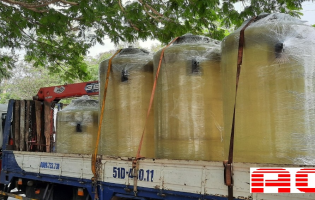 COMPOSITE BASIC CHEMICAL TANKS FOR BATTERY PLANT